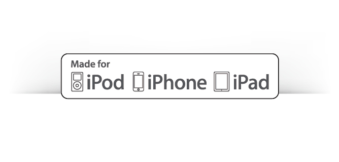 Certified by Apple MFi