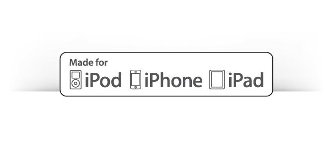 Certified by Apple MFi