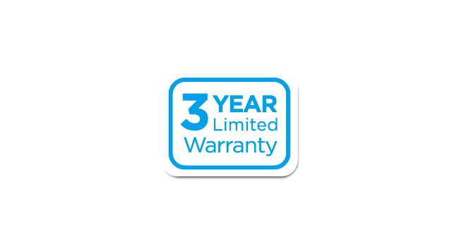 3-Year Limited Warranty