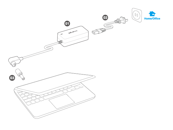 PowerGear 65- Universal Laptop Adapter- Innergie