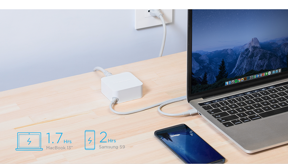 All charging solution in one adapter.