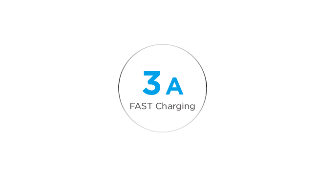 3A Output for Ultra-Fast Charging