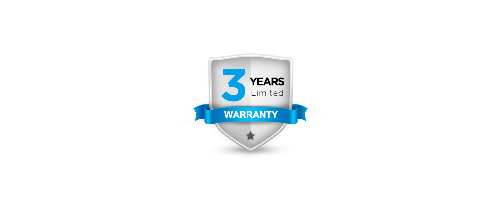 A 3-year warranty and thoughtful services