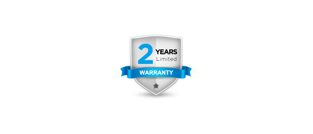 A 2-year warranty and thoughtful services
